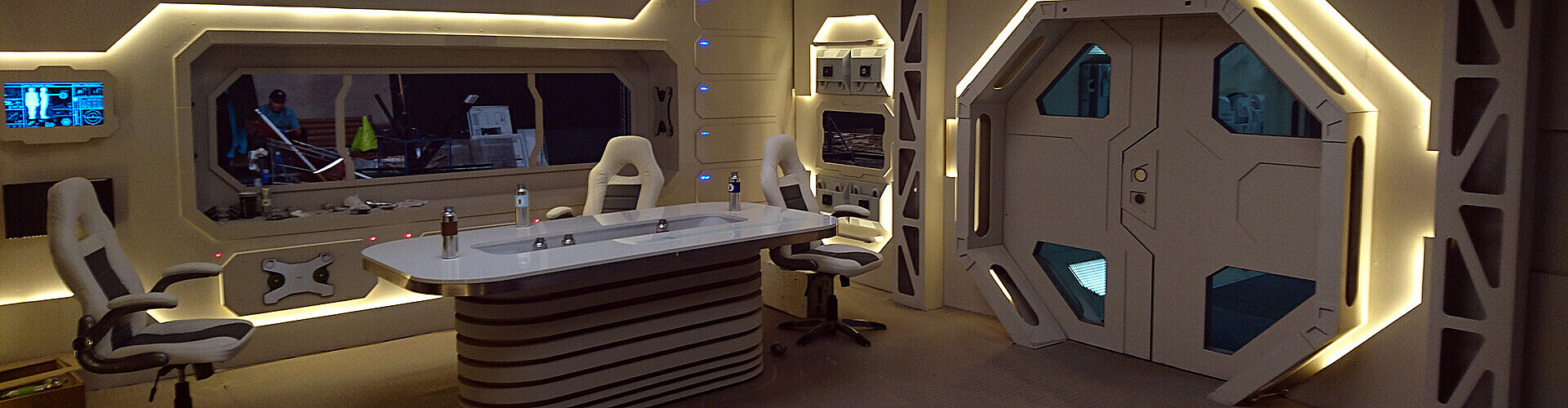 Set Decorations Of The Spaceship Portfolio Of Production Designer Aleksey Velichko