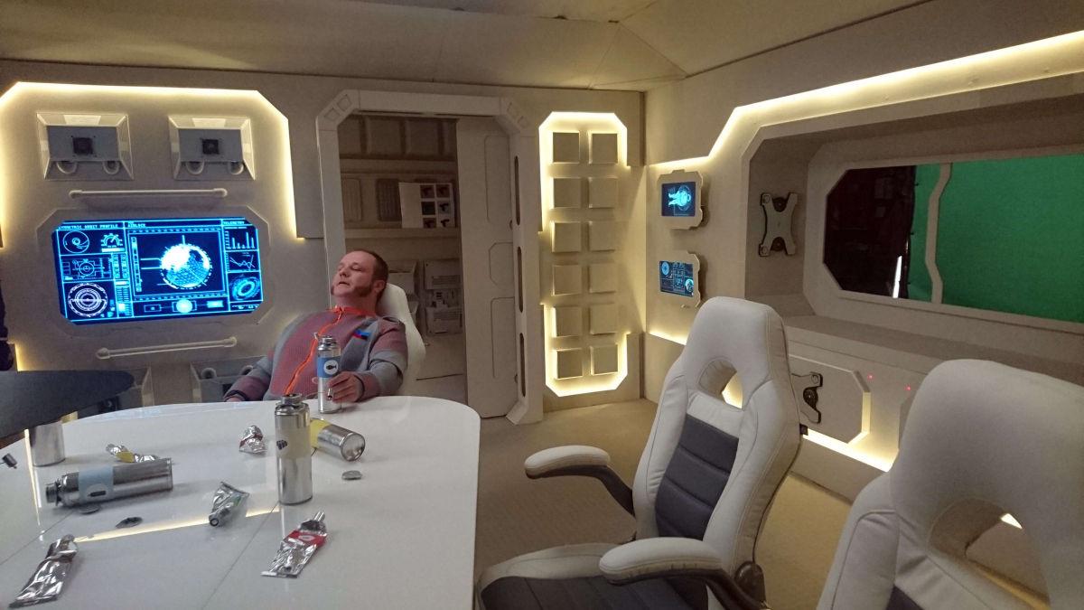 Set Decoration Of Spaceship Interior